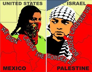 """""""We Didn't Cross the Border, the Border Crossed Us"""" by Monica Villareal"""